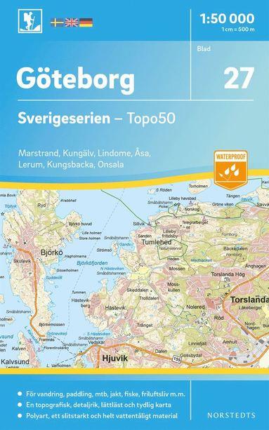 bokomslag 27 Göteborg Sverigeserien Topo50 : Skala 1:50 000