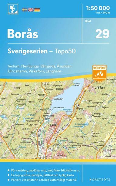 bokomslag 29 Borås Sverigeserien Topo50 : Skala 1:50 000