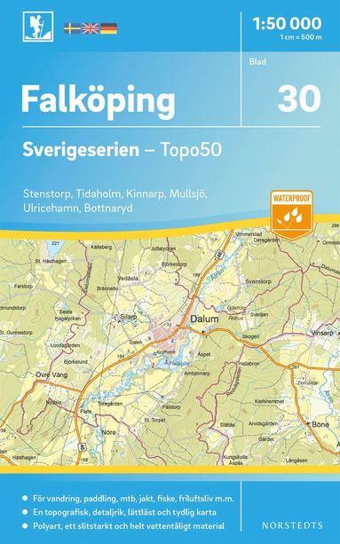 bokomslag 30 Falköping Sverigeserien Topo50 : Skala 1:50 000