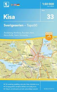 bokomslag 33 Kisa Sverigeserien Topo50 : Skala 1:50 000