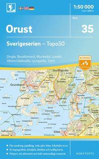 bokomslag 35 Orust Sverigeserien Topo50 : Skala 1:50 000