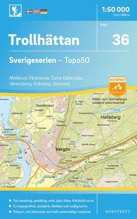 bokomslag 36 Trollhättan Sverigeserien Topo50 : Skala 1:50 000
