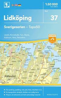bokomslag 37 Lidköping Sverigeserien Topo50 : Skala 1:50 000