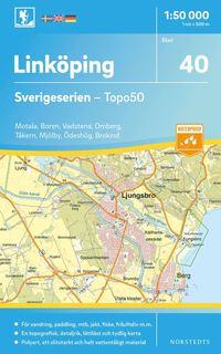 bokomslag 40 Linköping Sverigeserien Topo50 : Skala 1:50 000