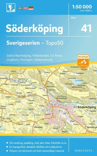 bokomslag 41 Söderköping Sverigeserien Topo50 : Skala 1:50 000