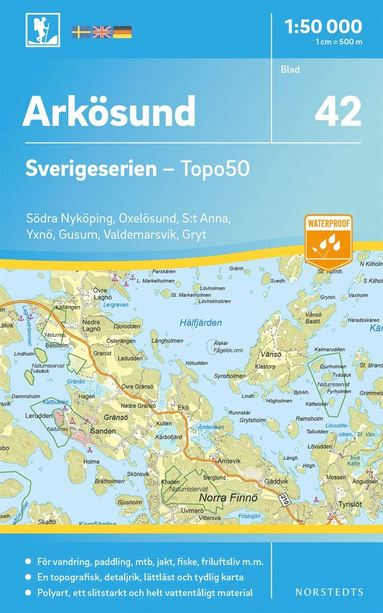 bokomslag 42 Arkösund Sverigeserien Topo50 : Skala 1:50 000