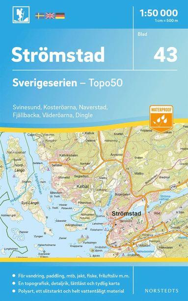 bokomslag 43 Strömstad Sverigeserien Topo50 : Skala 1:50 000