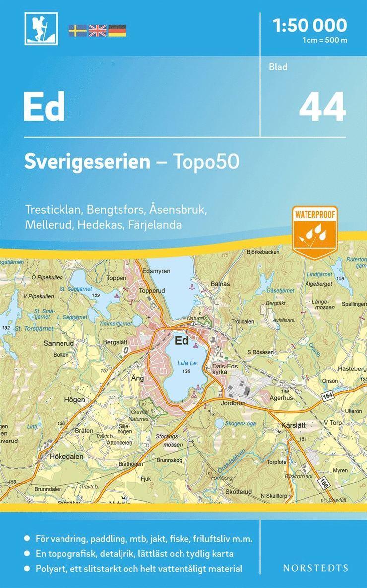 44 Ed Sverigeserien Topo50 : Skala 1:50 000 1