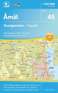bokomslag 45 Åmål Sverigeserien Topo50 : Skala 1:50 000