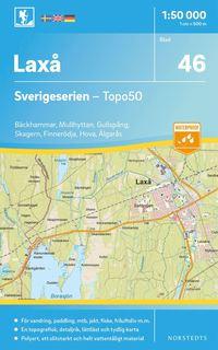bokomslag 46 Laxå Sverigeserien Topo50 : Skala 1:50 000