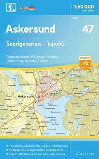 bokomslag 47 Askersund Sverigeserien Topo50 : Skala 1:50 000