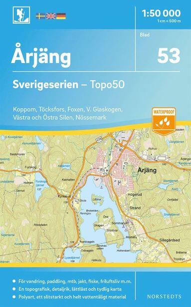 bokomslag 53 Årjäng Sverigeserien Topo50 : Skala 1:50 000