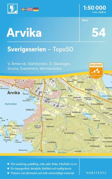 bokomslag 54 Arvika Sverigeserien Topo50 : Skala 1:50 000