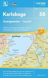 bokomslag 56 Karlskoga Sverigeserien Topo50 : Skala 1:50 000