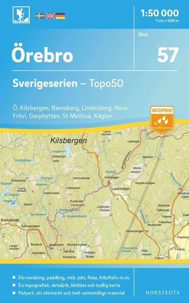 bokomslag 57 Örebro Sverigeserien Topo50 : Skala 1:50 000