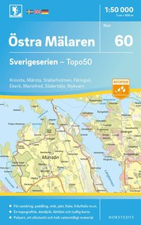 bokomslag 60 Östra Mälaren Sverigeserien Topo50 : Skala 1:50 000