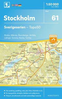 bokomslag 61 Stockholm Sverigeserien Topo50 : Skala 1:50 000