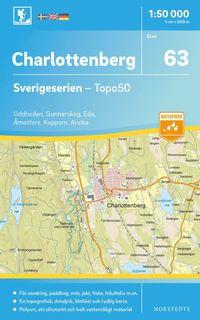 bokomslag 63 Charlottenberg Sverigeserien Topo50 : Skala 1:50 000