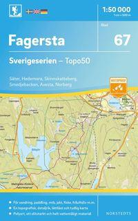 bokomslag 67 Fagersta Sverigeserien Topo50 : Skala 1:50 000