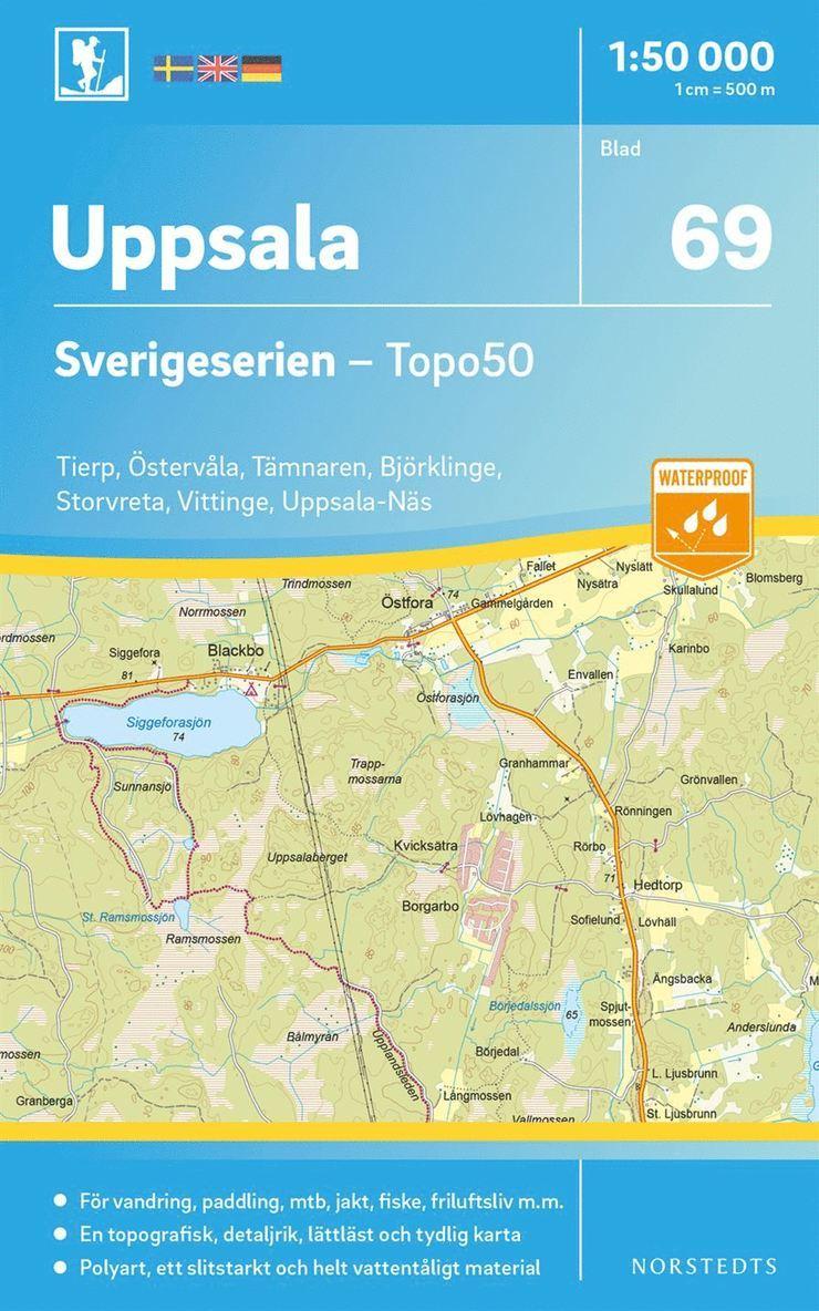 69 Uppsala Sverigeserien Topo50 : Skala 1:50 000 1