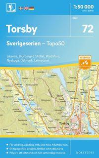 bokomslag 72 Torsby Sverigeserien Topo50 : Skala 1:50 000