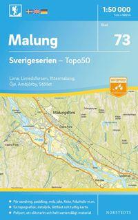 bokomslag 73 Malung Sverigeserien Topo50 : Skala 1:50 000