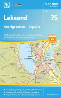 bokomslag 75 Leksand Sverigeserien Topo50 : Skala 1:50 000