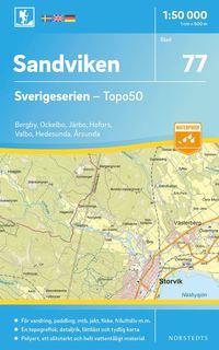 bokomslag 77 Sandviken Sverigeserien Topo50 : Skala 1:50 000