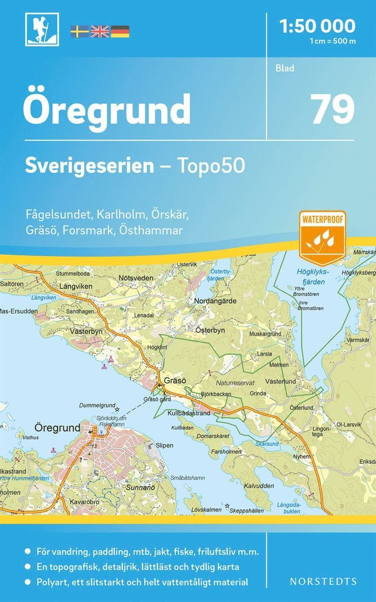 79 Öregrund Sverigeserien Topo50 : Skala 1:50 000 1