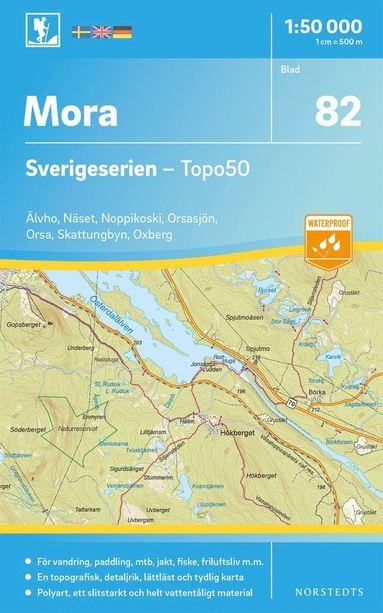 bokomslag 82 Mora Sverigeserien Topo50 : Skala 1:50 000