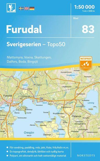 bokomslag 83 Furudal Sverigeserien Topo50 : Skala 1:50 000