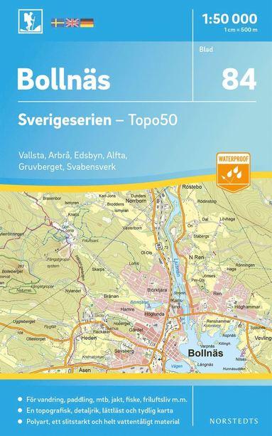 bokomslag 84 Bollnäs Sverigeserien Topo50 : Skala 1:50 000