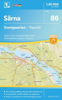 bokomslag 86 Särna Sverigeserien Topo50 : Skala 1:50 000