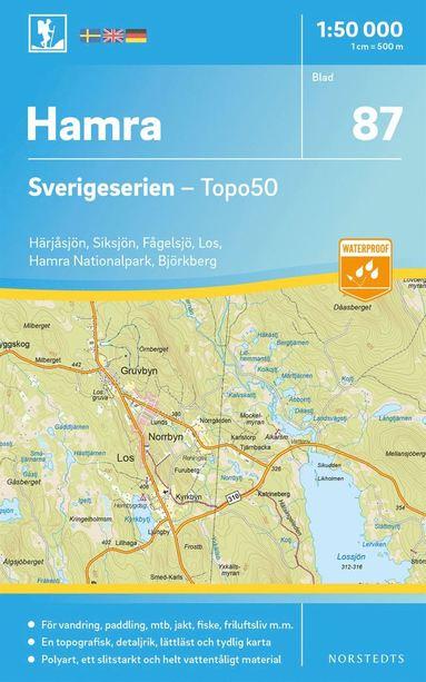 bokomslag 87 Hamra Sverigeserien Topo50 : Skala 1:50 000