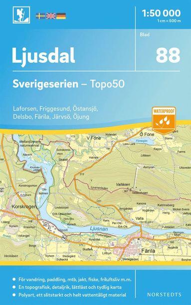 bokomslag 88 Ljusdal Sverigeserien Topo50 : Skala 1:50 000