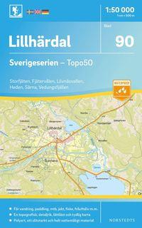 bokomslag 90 Lillhärdal Sverigeserien Topo50 : Skala 1:50 000