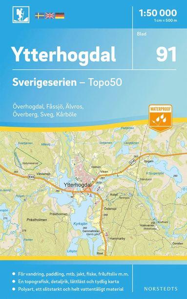 bokomslag 91 Ytterhogdal Sverigeserien Topo50 : Skala 1:50 000