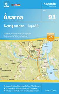 bokomslag 93 Åsarna Sverigeserien Topo50 : Skala 1:50 000