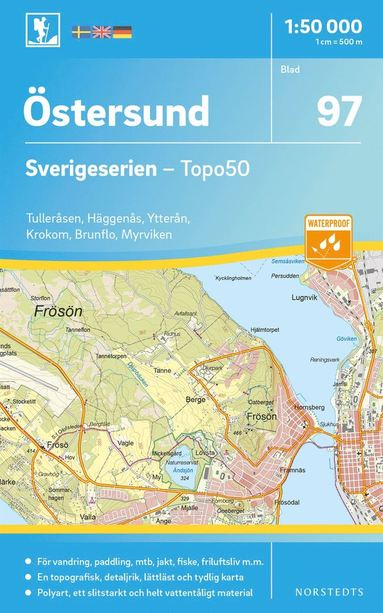 bokomslag 97 Östersund Sverigeserien Topo50 : Skala 1:50 000