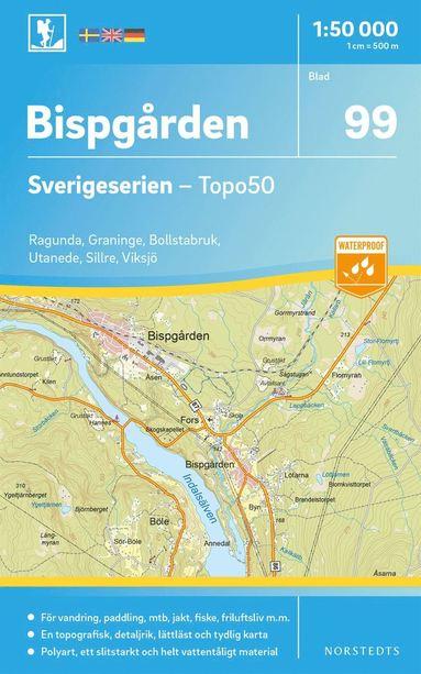bokomslag 99 Bispgården Sverigeserien Topo50 : Skala 1:50 000
