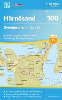 bokomslag 100 Härnösand Sverigeserien Topo50 : Skala 1:50 000