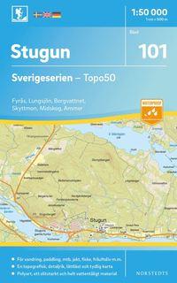 bokomslag 101 Stugun Sverigeserien Topo50 : Skala 1:50 000