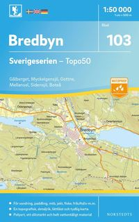 bokomslag 103 Bredbyn Sverigeserien Topo50 : Skala 1:50 000