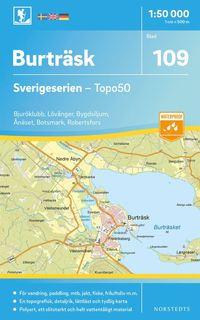 bokomslag 109 Burträsk Sverigeserien Topo50 : Skala 1:50 000