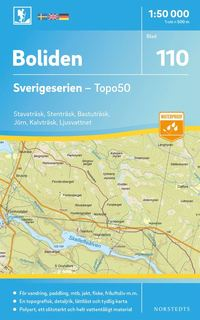 bokomslag 110 Boliden Sverigeserien Topo50 : Skala 1:50 000