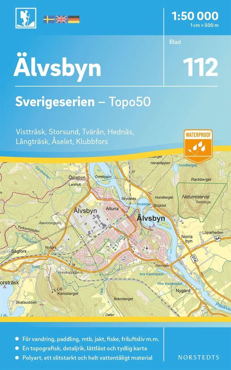 112 Älvsbyn Sverigeserien Topo50 : Skala 1:50 000 1