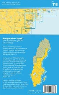 bokomslag 113 Piteå Sverigeserien Topo50 : Skala 1:50 000