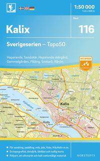 bokomslag 116 Kalix Sverigeserien Topo50 : Skala 1:50 000