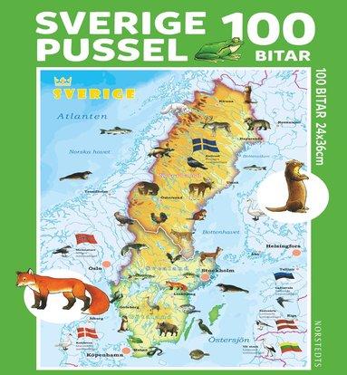 Pussel 100 bitar Sverige