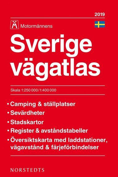 bokomslag Sverige Vägatlas 2019 Motormännen : Skala 1:250.000-1:400.000